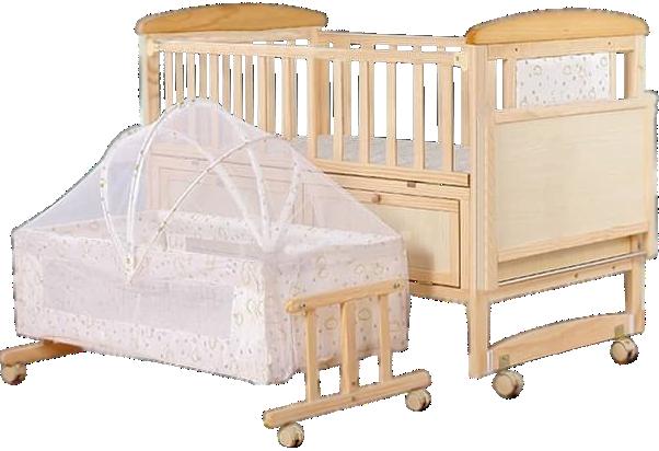 Lesena otroška posteljica